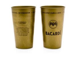 Bacardi Cuba Libre metalen Beker - (Brons-Goud)
