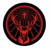 Jägermeister Sticker | Logo sticker rond zwart