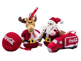 Coca Cola Pluche Kersthangers (4 stuks)