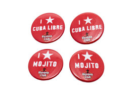 Havana Club Mini-Button Set (4 stuks)