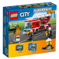 LEGO City 66541 Super Pack 3in1 Brandweer 60107 + 60106 + 60105