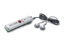 Bacardi FM Autoscan Radio + Headset