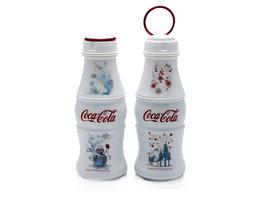 Coca Cola aluminium Flessen - Kerstboom & Sneeuwpop (2 stuks)