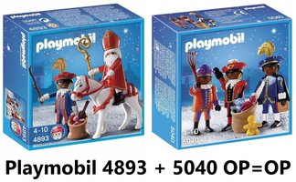 Playmobil Sinterklaas Set | 4893 Sinterklaas + 5040 Zwarte Pieten HARD-TO-FIND