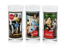 Coca Cola Retro Longdrink Glazen (3 stuks)