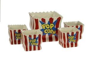 Popcorn Bowl Set - Vierkant 5dlg