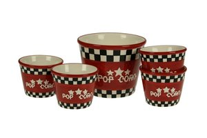 Popcorn Bowl Set - Rond 5dlg