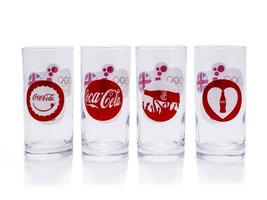 Coca Cola Longdrink Glazen Set (4 stuks) Olympische Spelen Londen 2012