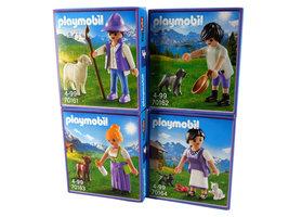 Playmobil 70161 + 70162 + 70163 + 70164 | Milka figuren set | 4 stuks