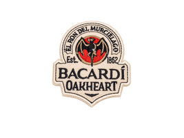 Bacardi Oakheart Patch Stick-On Sticker