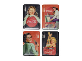 Coca Cola Retro Koelkast Magneten Set (4 stuks)