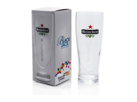 Heineken Ellipse Glas in Black Jack Holland Casino doosje