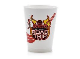 Bacardi Red Hot 'Road Trip' kunststof Beker (6 stuks)