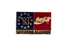 Coca Cola PIN '1993 Soft Drink of Europe'