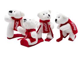 Coca Cola Pluche IJsberen 'Wintersport' (4 stuks)