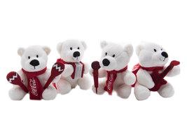 Coca Cola Pluche IJsberen 'Muziek' (4 stuks)
