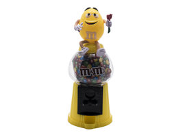 M&M's Dispenser 'Geel met Roos'