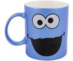Sesamstraat Koffiemok Koekiemonster Blauw Metallic