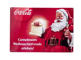 Coca Cola Reclamebord Kerst | 'Gemeinsam Weihnachtsfreude erleben!'