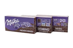 Milka Spellen Set: Never Mind, Domino & Memo (3 stuks)