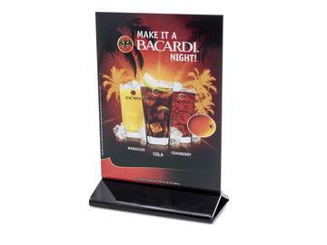 Bacardi Tafelkaart Reclamebord