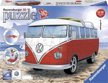 Ravensburger 3D Puzzel Volkswagen VW T1 Bulli Bus | 162 pcs