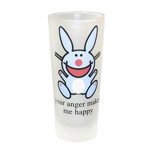 Longdrinkglas Jim Benton's  it's happy bunny - 'Your anger makes me happy' vandegroothandel.nl