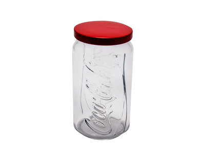 Coca Cola XXL Contour Glas met rode deksel bargadgets.nl combishoppen.nl
