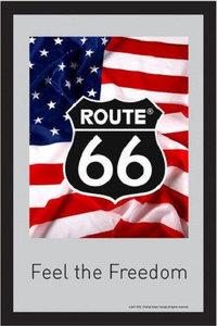 Spiegel Route 66 'Feel the Freedom' bestelgeschenk.nl