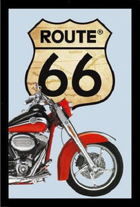 Spiegel Route 66 'Harley Davidson' bestelgeschenk.nl