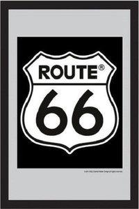 Spiegel Route 66 'Black' bestelgeschenk.nl